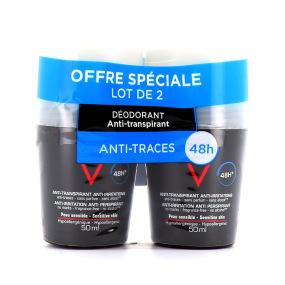 Vichy Homme Déodorant Anti-transpirant 48H Peaux sensibles 50ml