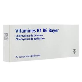 Vitamines B1 B6 Bayer comprimés