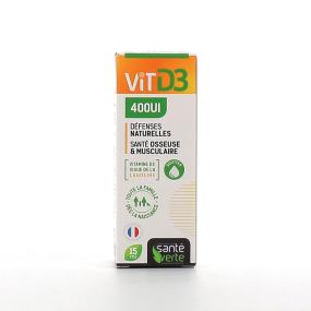 Santé Verte Vitamine D3 400UI Défenses naturelles 15 ml