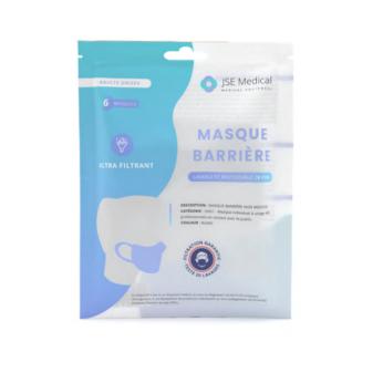 Masque Barrière Réutilisable x6