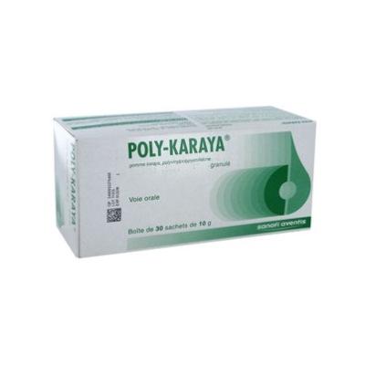 Poly-Karaya granulés 10g -30 sachets - SANOFI   Pharmacie ...
