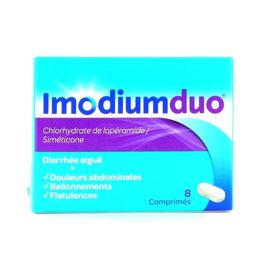 Imodium Duo 8 comprimés