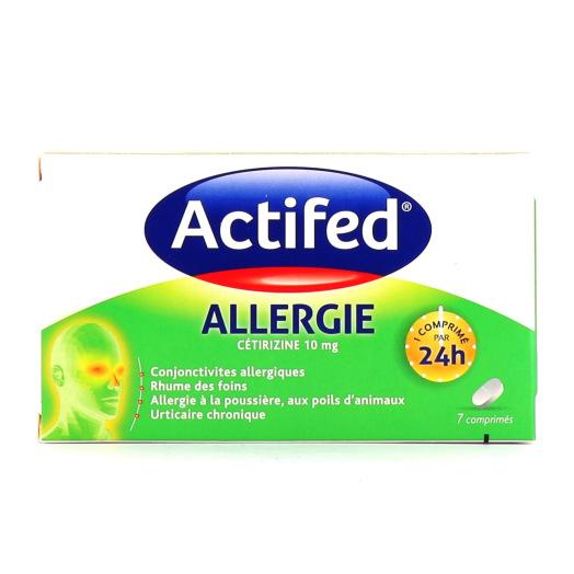 Actifed Allergie 7 comprimés
