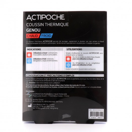 Actipoche Chaud Froid Genou Microbilles 20 x 30 cm