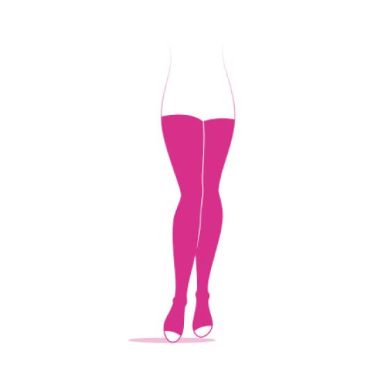 Sigvaris Styles transparent Bas auto-fixants pied ouvert
