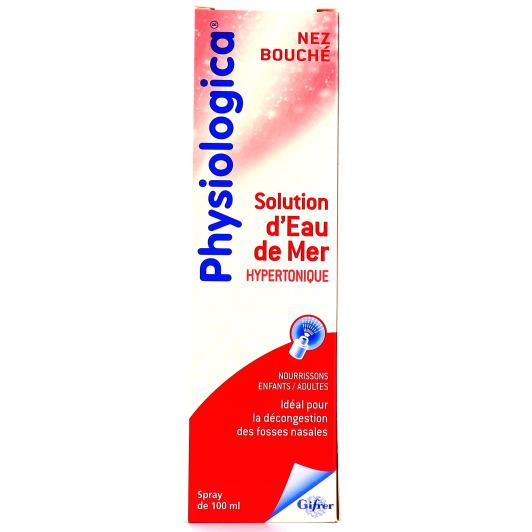Physiologica Nez Bouché Solution d'Eau de Mer Hypertonique