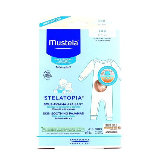 Mustela Sous Pyjama Apaisant disponible en 2 tailles (6-12 mois et 12-24 mois)
