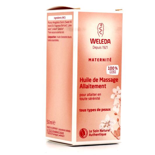 Weleda Huile de massage Allaitement Flacon 50ml