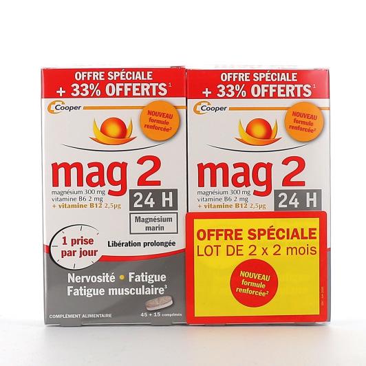 Mag 2 24H nervosité, fatigue et fatigue musculaire