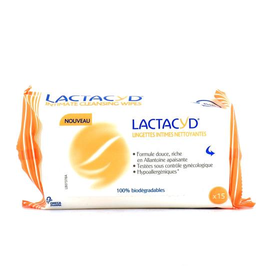 Lactacyd Nettoyant Intime 15 lingettes