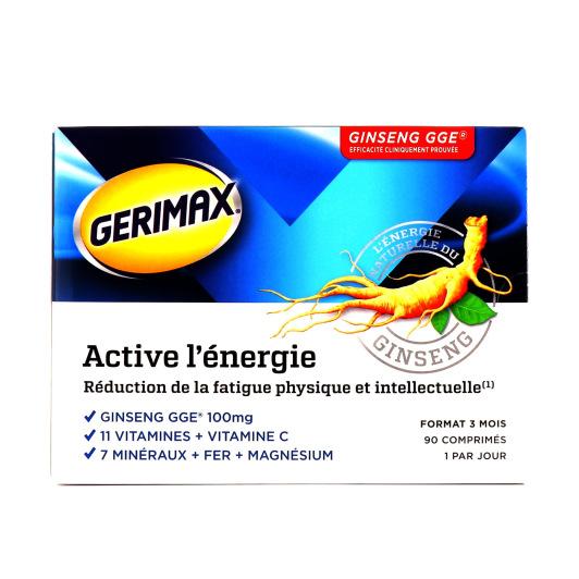Gerimax - Active énergie - 30 - 60 ou 90 comprimés