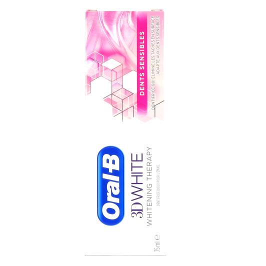 Oral B 3D White dents sensibles 75 ml