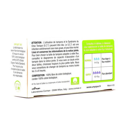 Tampons Coton Bio x16