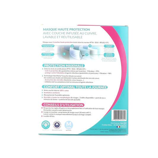 Masque Lavable et Réutilisable Haute Protection