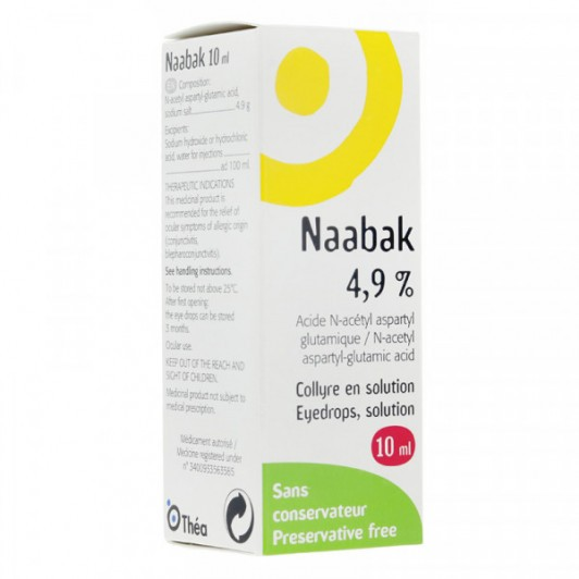 Naabak 4.9% collyre 10ml