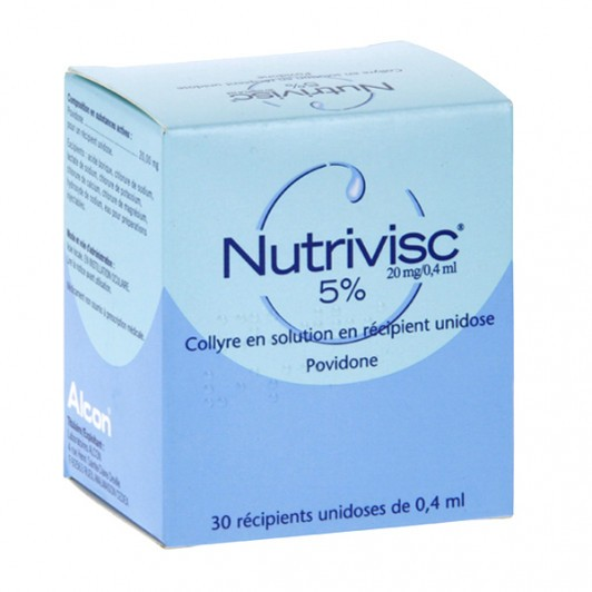 Nutrivisc collyre 20mg / 0,4ml 30 unidoses