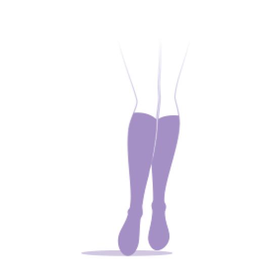 Sigvaris Styles transparent Bas auto-fixants classe 2