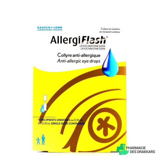 AllergiFlash Collyre Anti-allergique 10 dosettes
