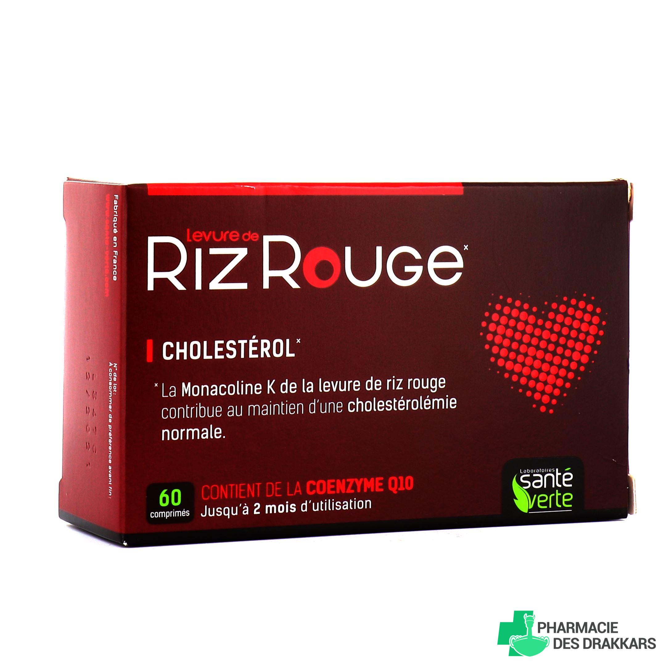 Levure de Riz rouge - Santé Verte - Pharmacie des drakkars