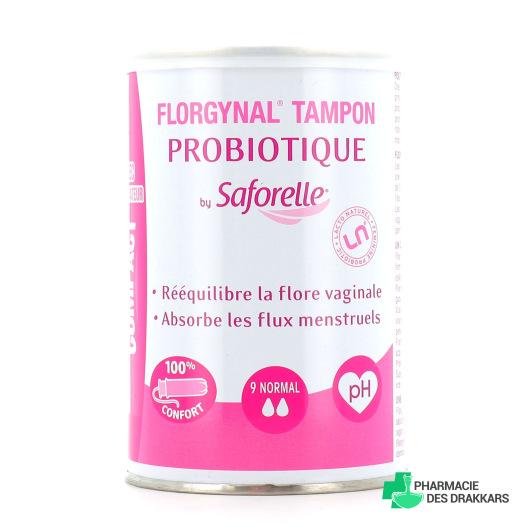 Saforelle Florgynal Tampon Probiotique Normal Applicateur Compact x9