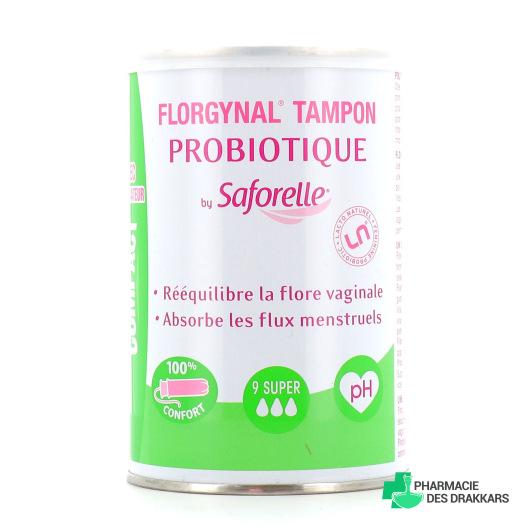 Saforelle Florgynal Tampon Probiotique Super avec Applicateur Compact x9