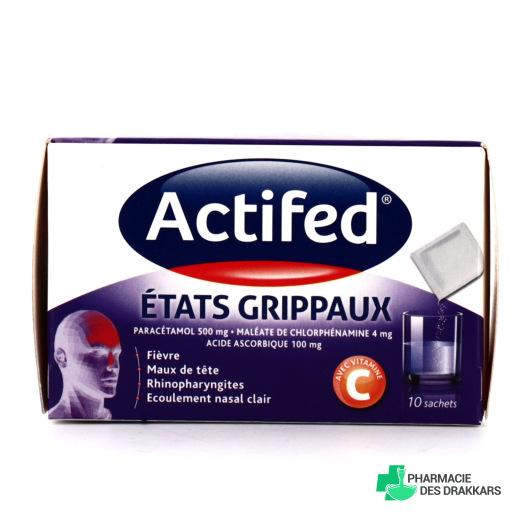 Actifed Etats Grippaux 10 sachets
