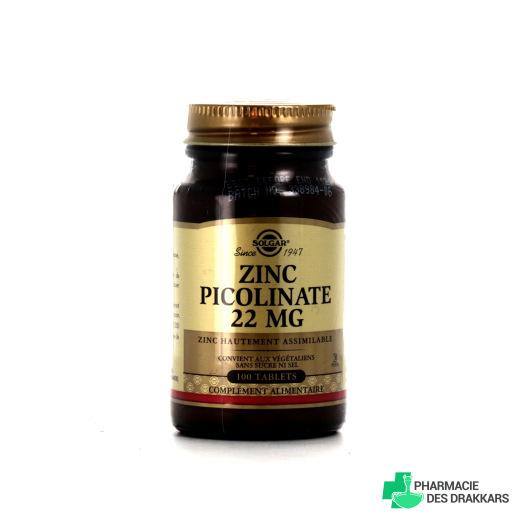 Solgar Zinc Picolinate 22 mg