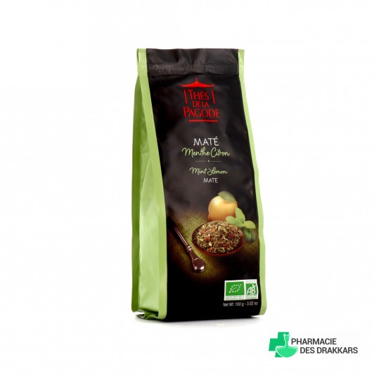 Thé de la Pagode - Maté menthe-citron Bio - Vrac (en feuilles) 100g