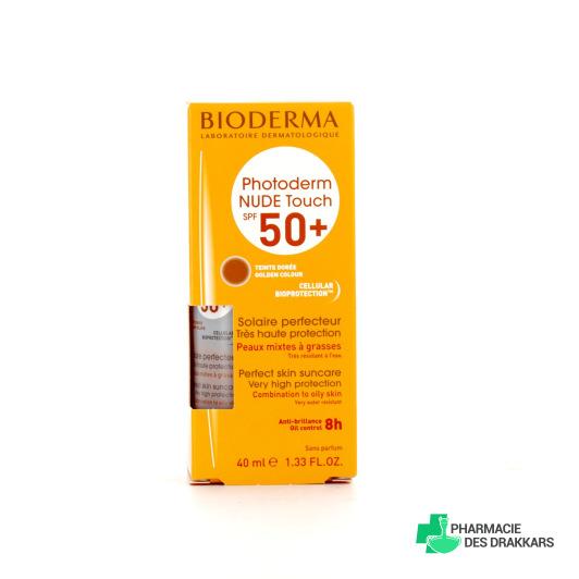 Bioderma Photoderm NUDE Touch SPF50+ Teinte Dorée 40ml