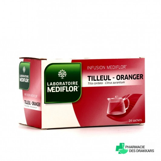 Médiflor Infusion Tilleul Oranger 24 Sachets
