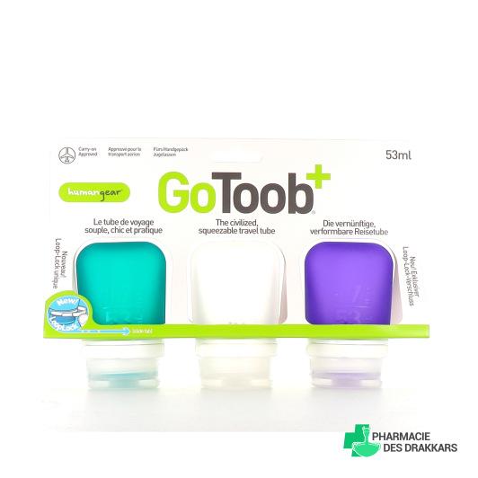 Lot de 3 GoToob+ Tube de Voyage en Silicone